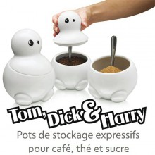 Pots à café, thé et sucre Tom, Dick & Harry