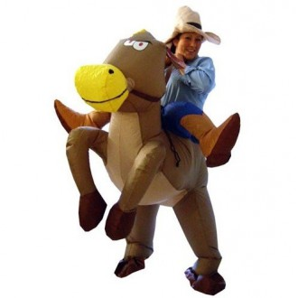 Cheval gonflable CowBoy