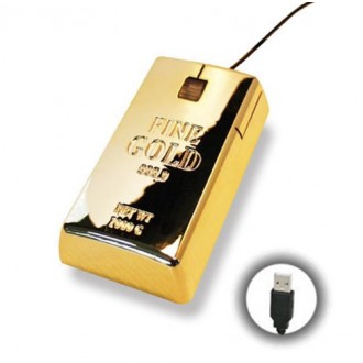 Souris USB Lingot d'Or