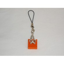 Bijou de portable orange - Sac noeud