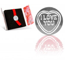 Médaillon Coeur en argent : I Love You